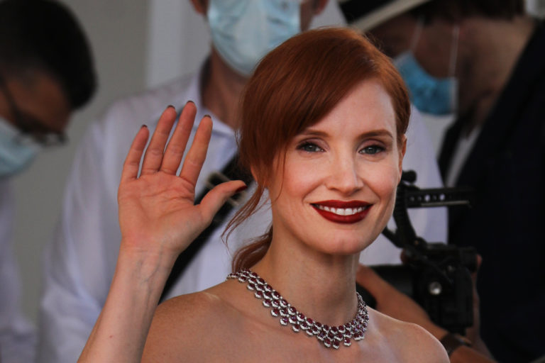 Jessica Chastain Goes Goth in a Black Tulle Dress at Cannes 2021 – Footwear News